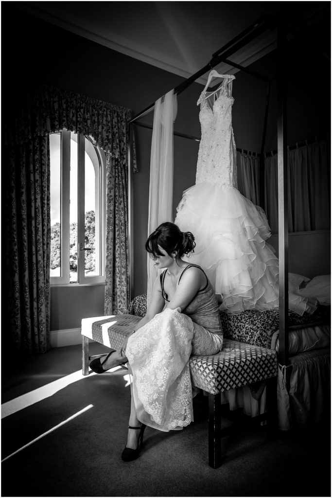 Bowood Hotel wedding photographer Bride & Wedding dress