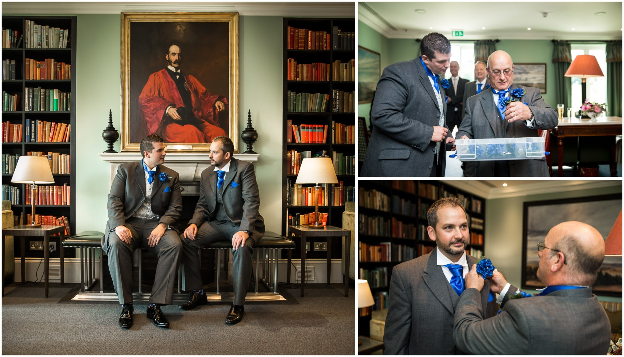 Bowood Hotel wedding Groom & Best Man before ceremony