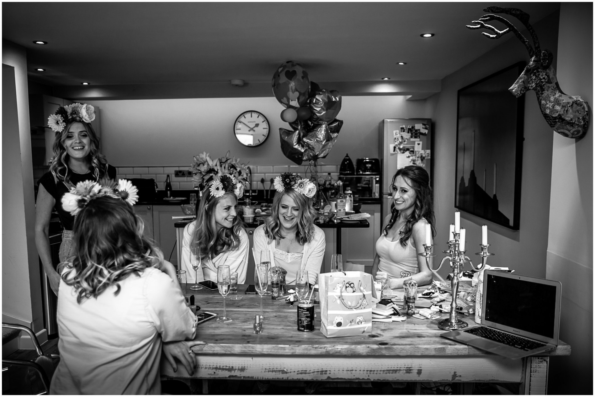 Islington Metal Works Wedding - Bride with Bridemaids getting ready