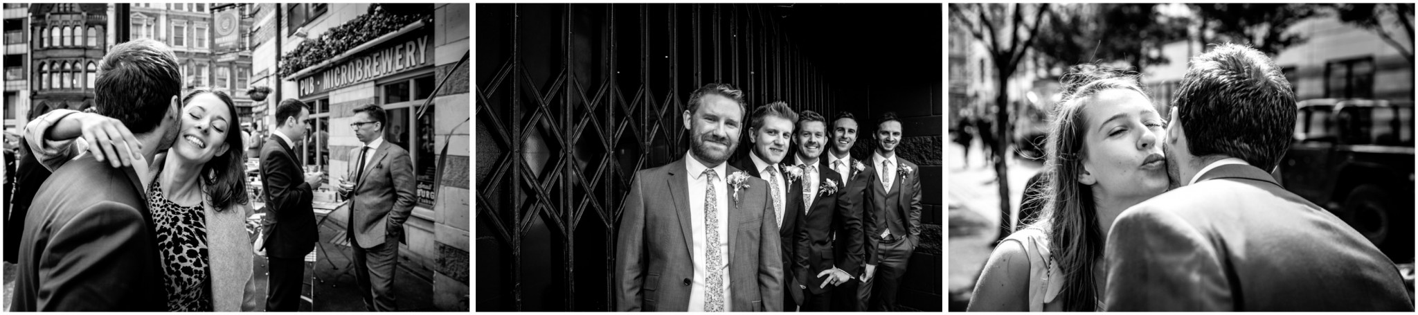 Islington Metal Works Wedding - Groom & Guests