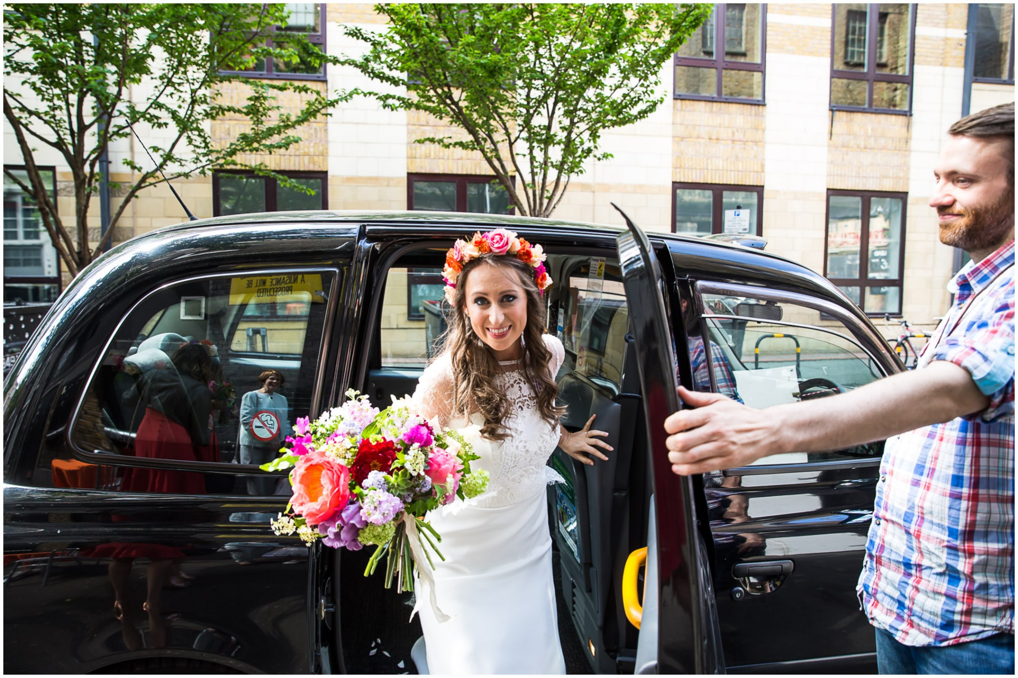 Islington Metal Works Wedding - Bride arriving