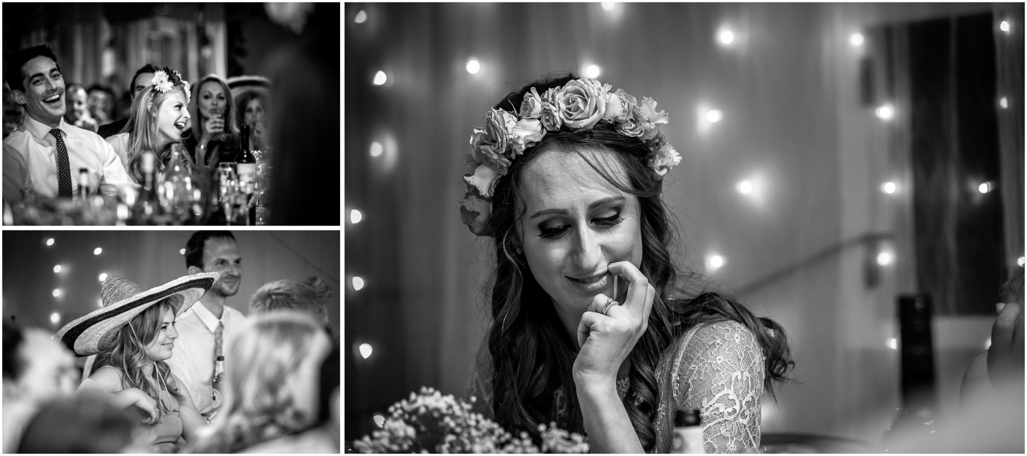 Islington Metal Works Wedding - Bride's reaction to speech