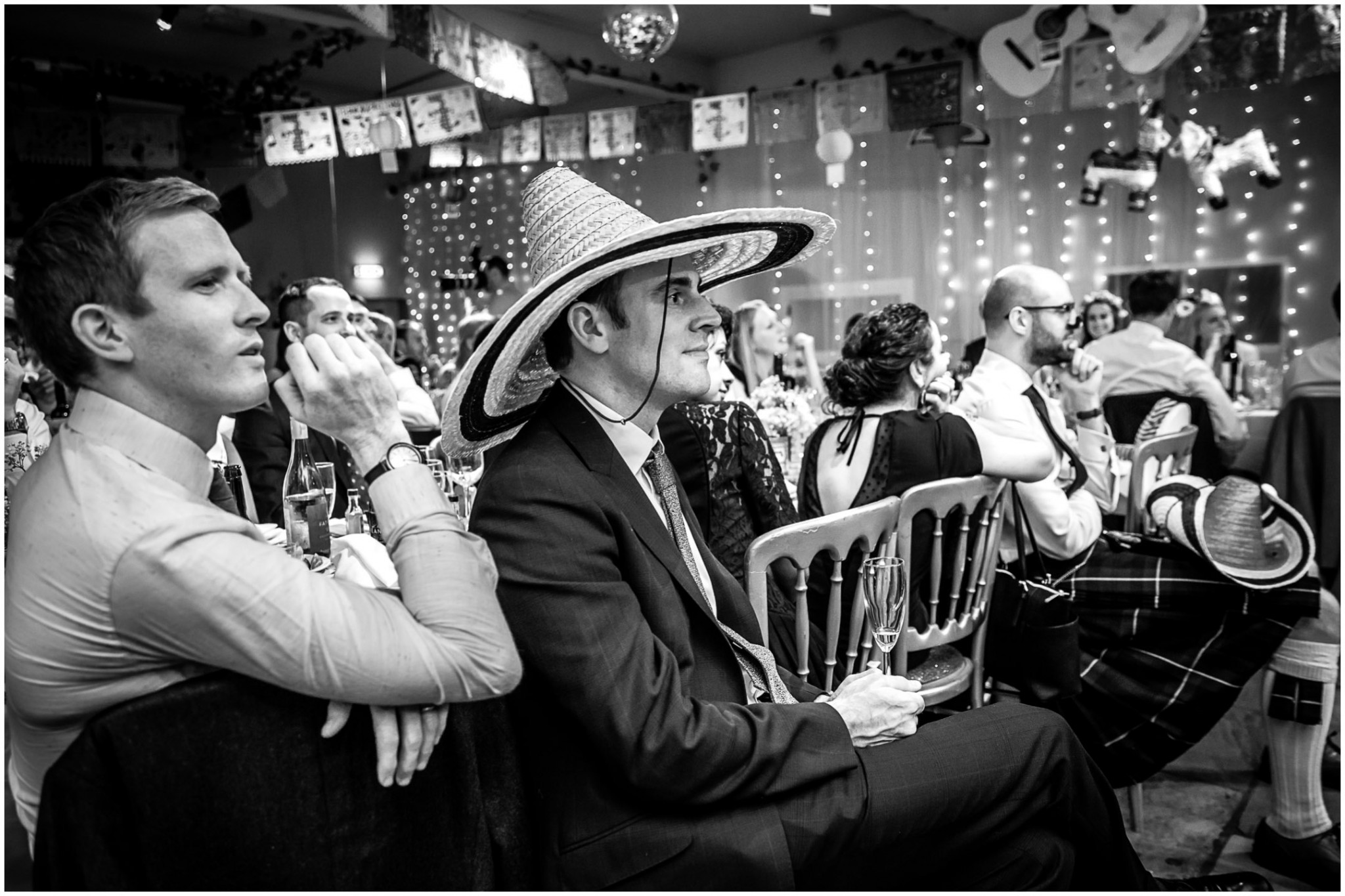 Islington Metal Works Wedding - Guest listening to speech
