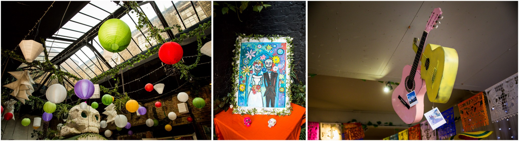 Islington Metal Works Wedding - Day of the Dead decorations