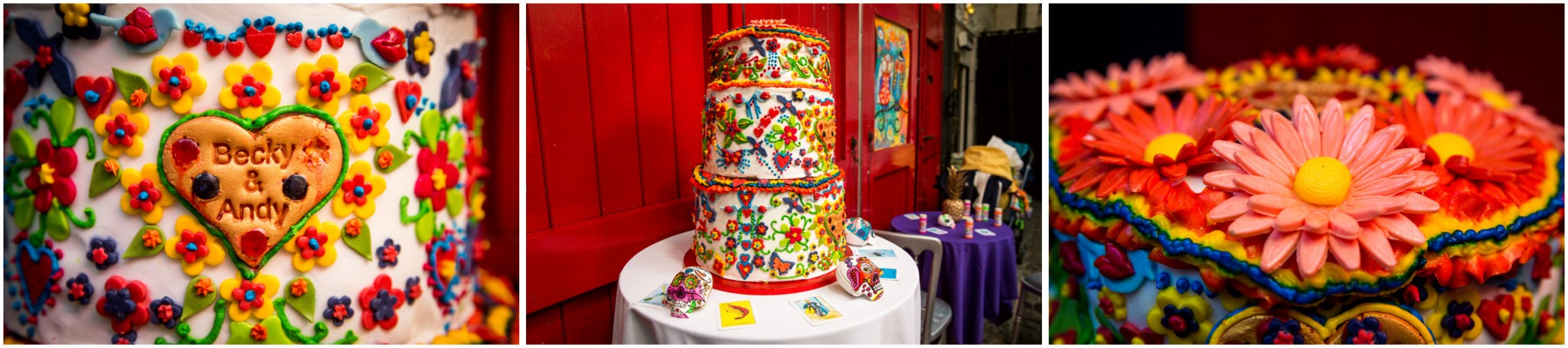 Islington Metal Works Wedding - Day of the Dead Wedding Cake