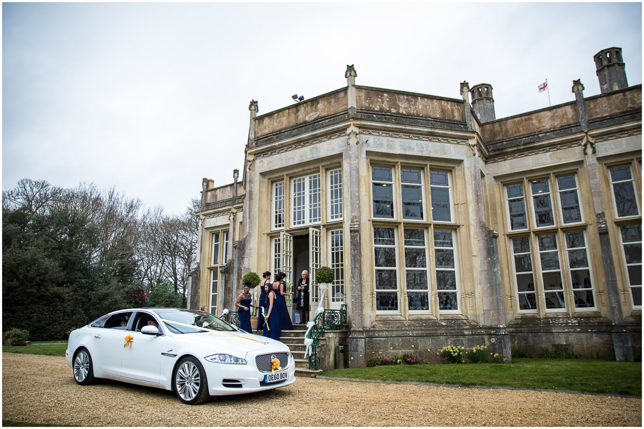 Highcliffe Castle Wedding bridesmaids arriving