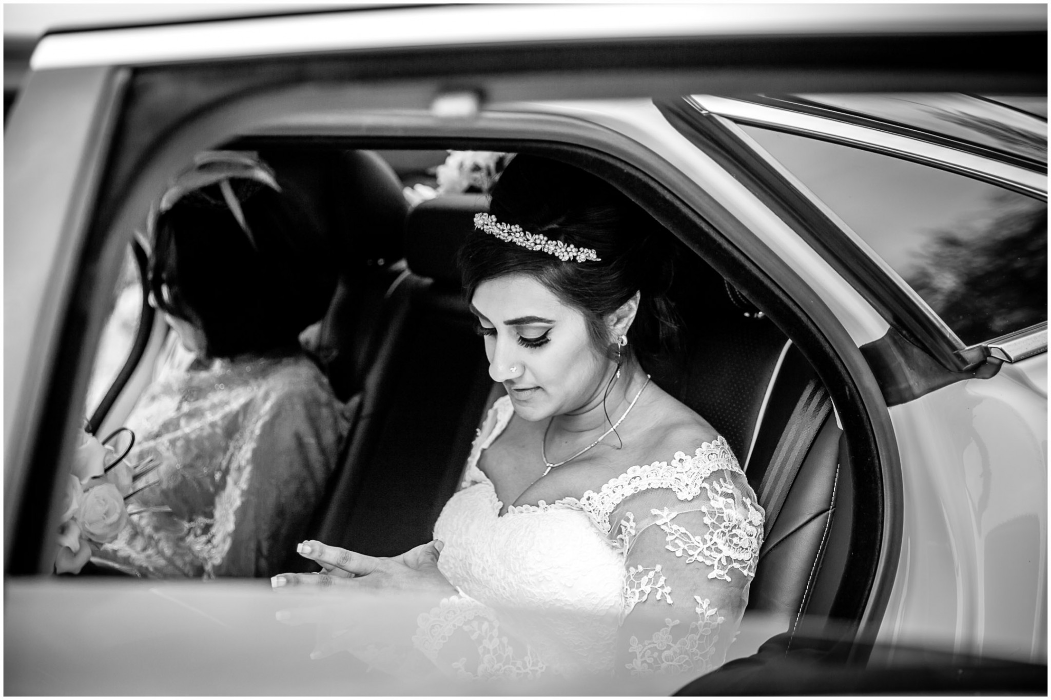 Highcliffe Castle Wedding Bride in wedding car