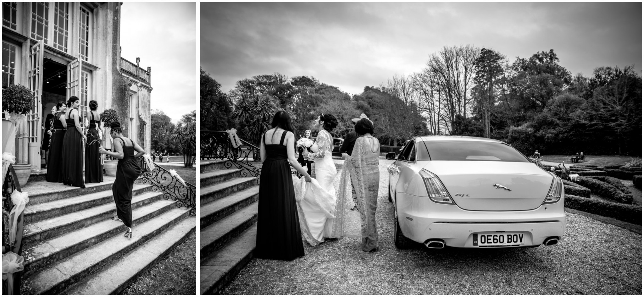 Highcliffe Castle Wedding Bride arriving