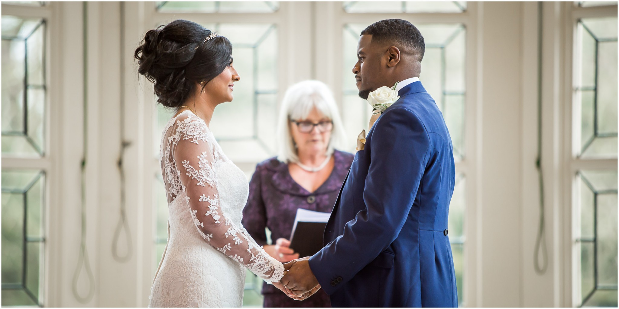 Highcliffe Castle Wedding Exchanging Vows