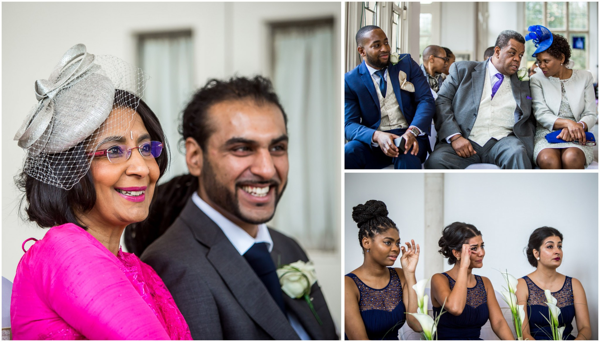 Highcliffe Castle Wedding Guest reaction to first kiss