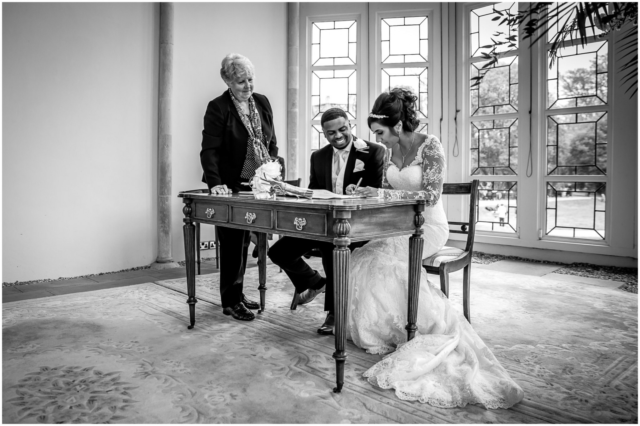 Highcliffe Castle Wedding Signing the Register