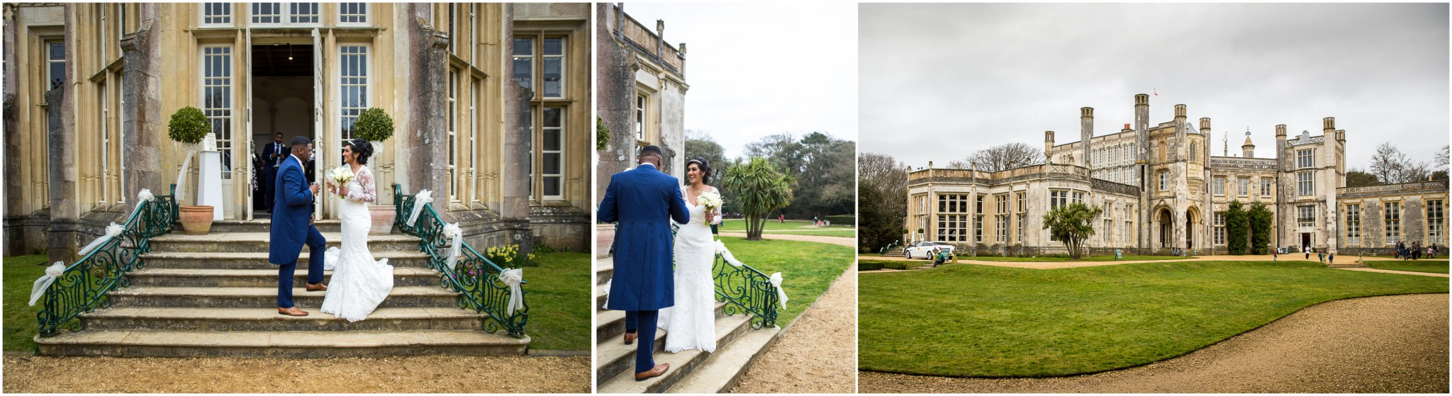 Highcliffe Castle Wedding Couple after ceremony