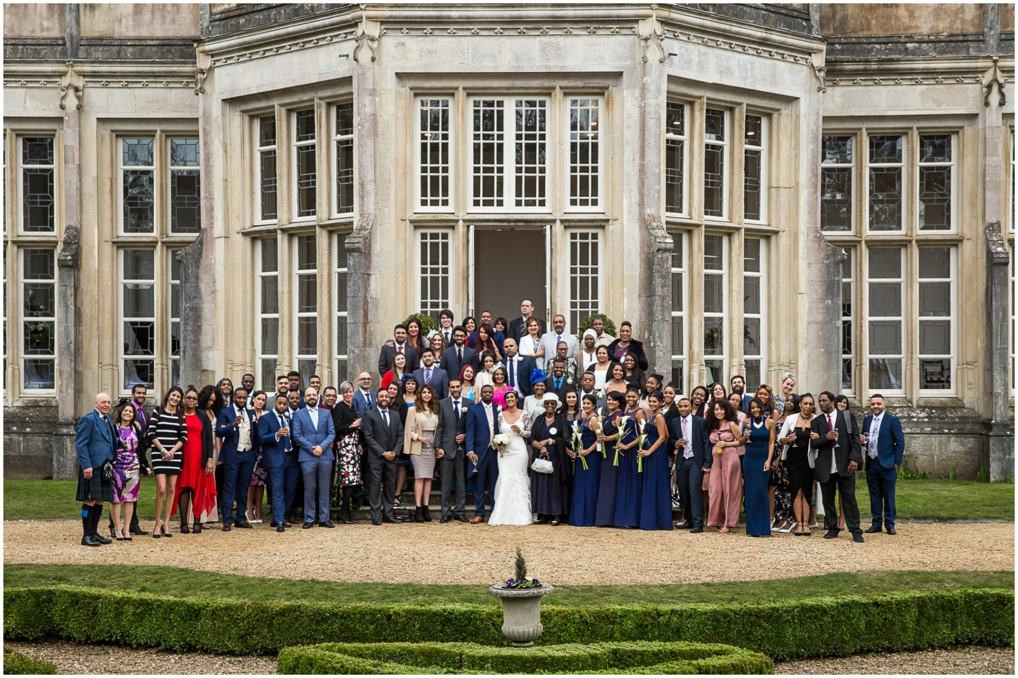 Highcliffe Castle Wedding Full Guest Group shot