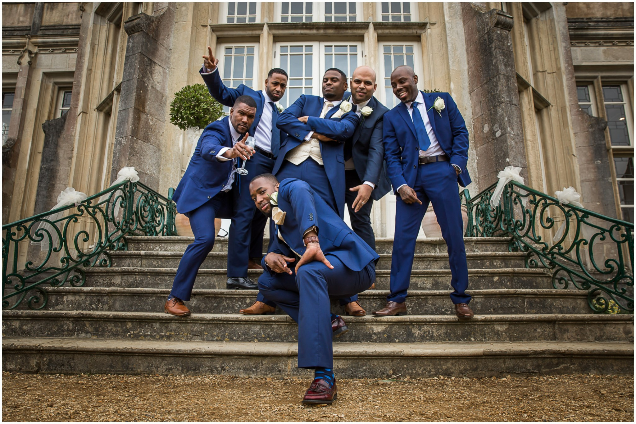 Highcliffe Castle Wedding Groom & Ushers