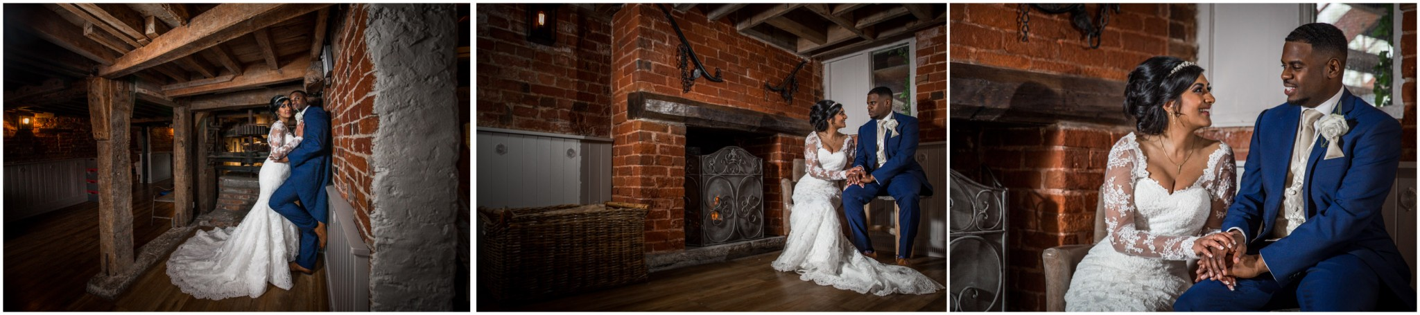 Sopley Mill Wedding Reception Bride & Groom portraits