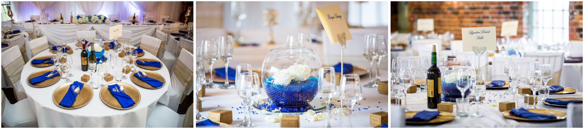 Sopley Mill Wedding Reception Table Decorations