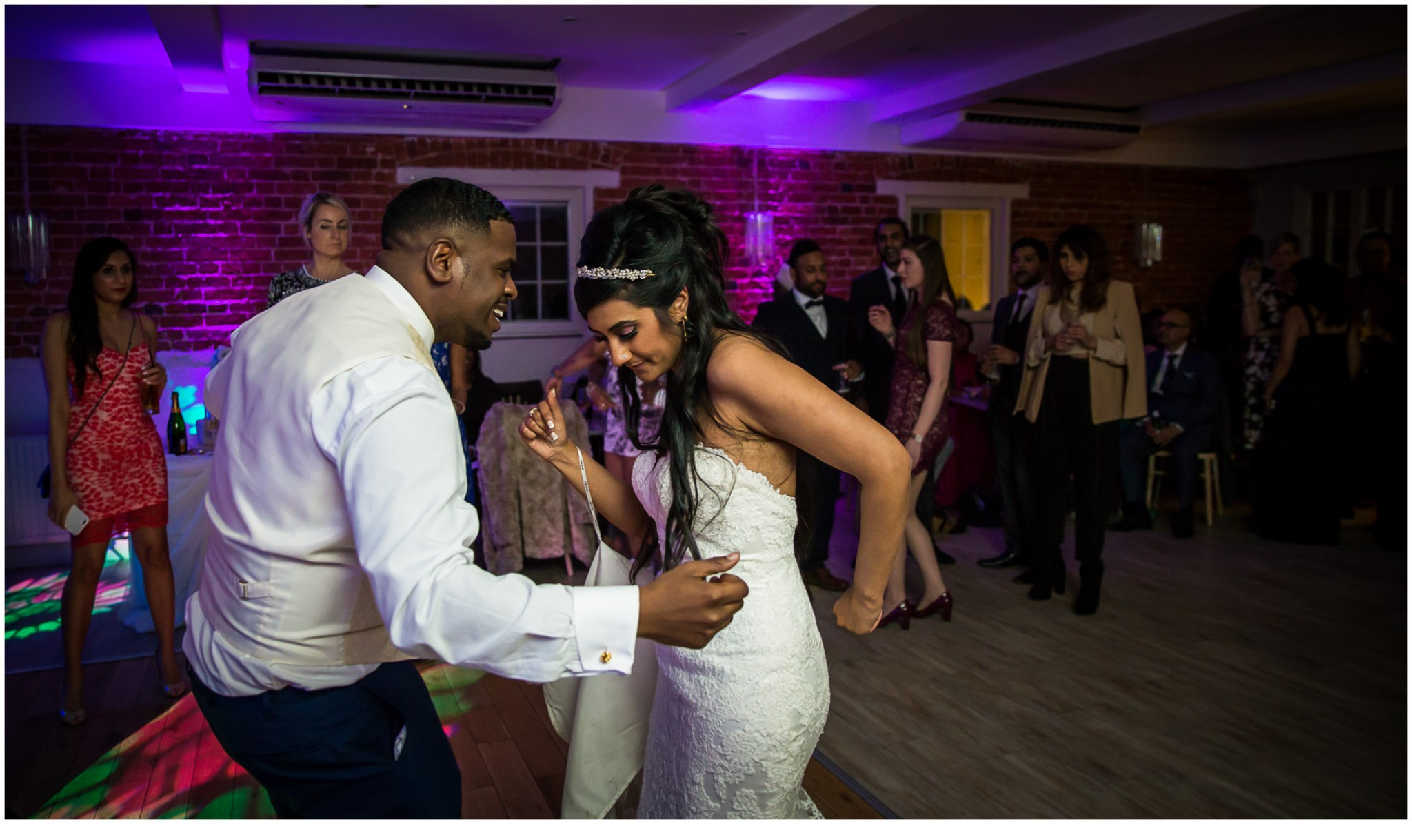Sopley Mill Wedding Reception Couple dancing