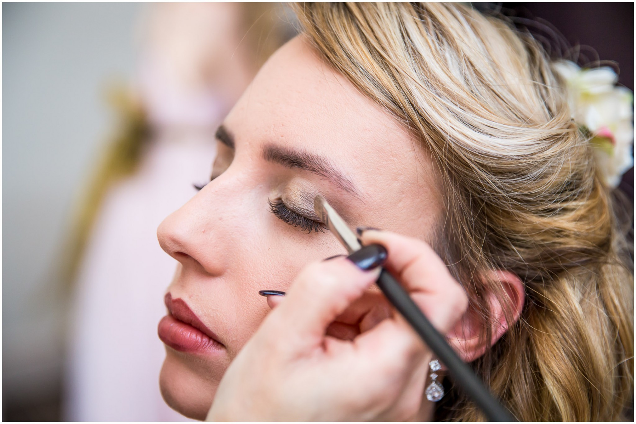 Highfield Park Wedding Photography Bride's makeup
