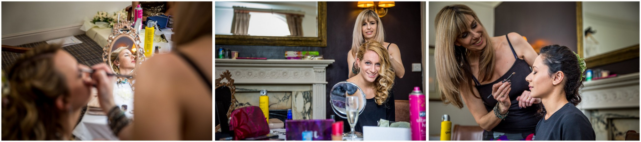 Highfield Park Wedding Photography Bridesmaids getting ready