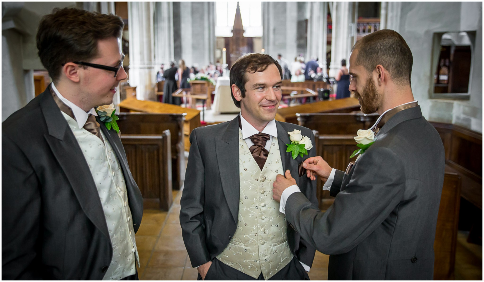 Highfield Park Wedding Photography Groom before the ceremony