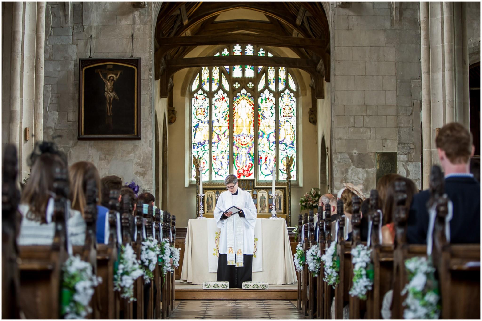 Highfield Park Wedding Photography Vicar's sermon
