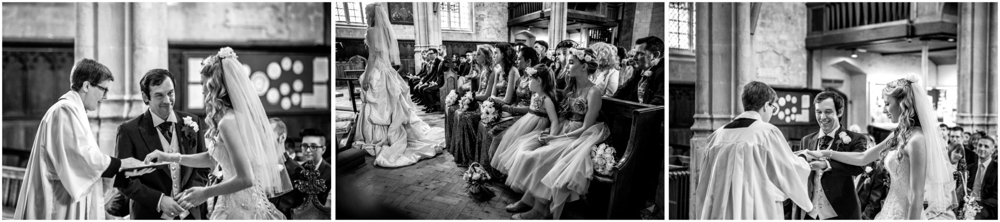Highfield Park Wedding Photography Exchange of Rings