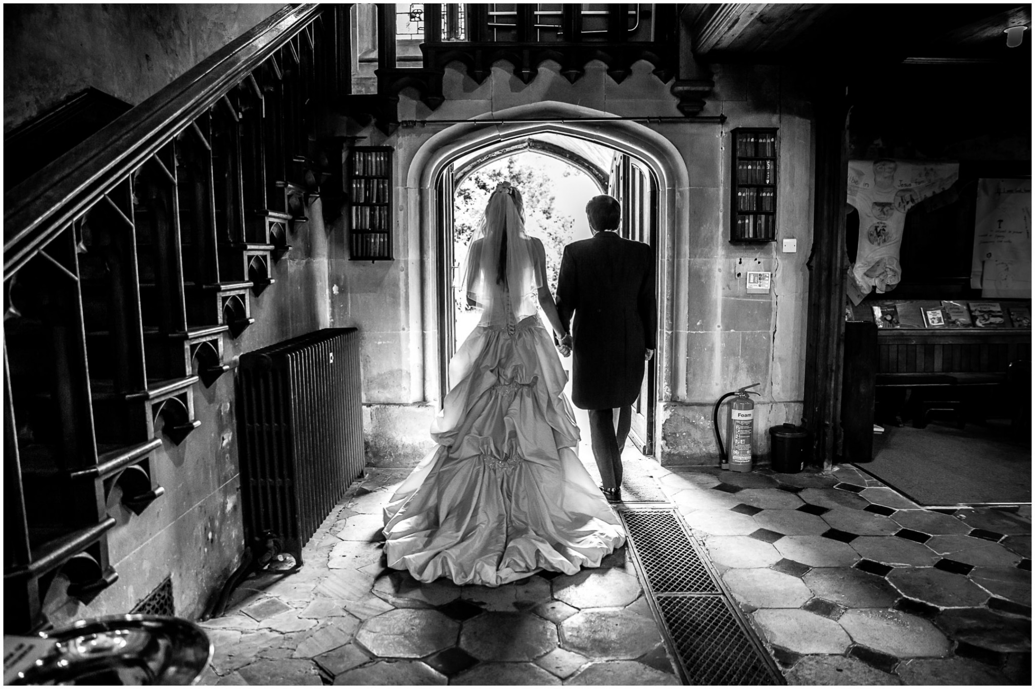 Highfield Park Wedding Photography Bride & Groom exiting the church