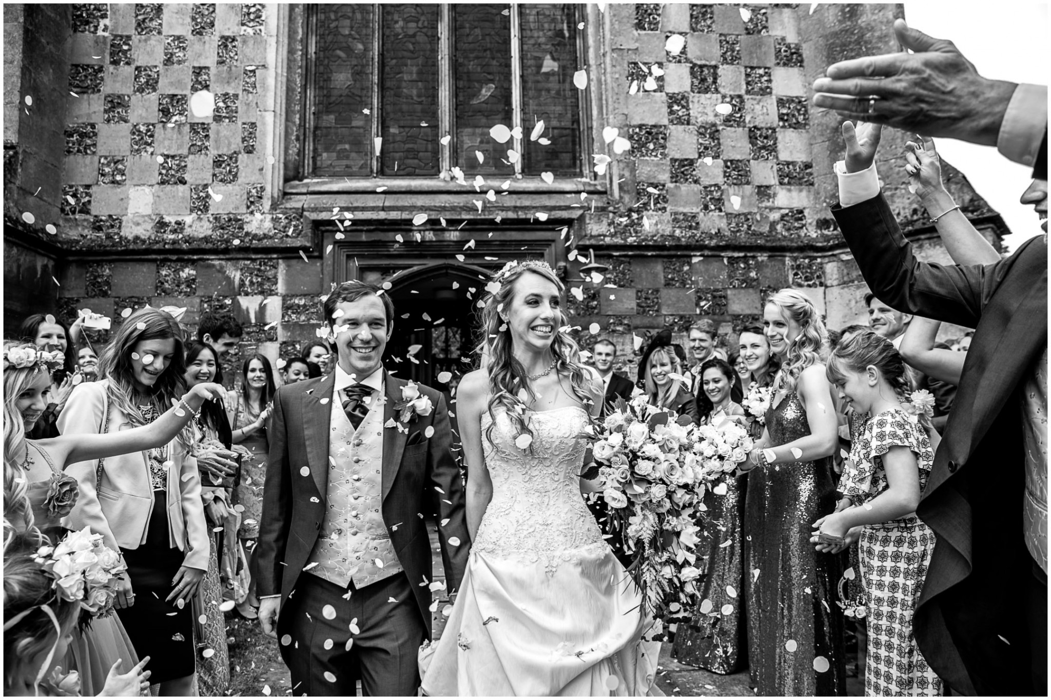 Highfield Park Wedding Photography confetti