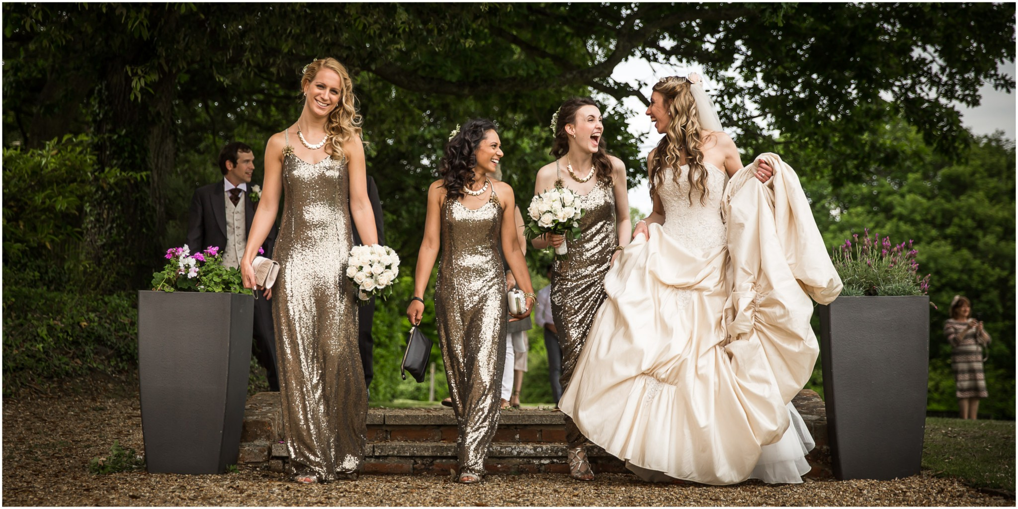 Highfield Park Wedding Photography Bride with Bridesmaids