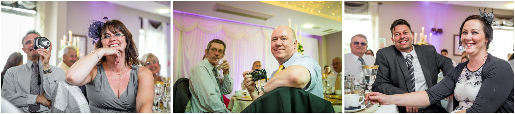 Highfield Park Wedding Photography Guest before meal
