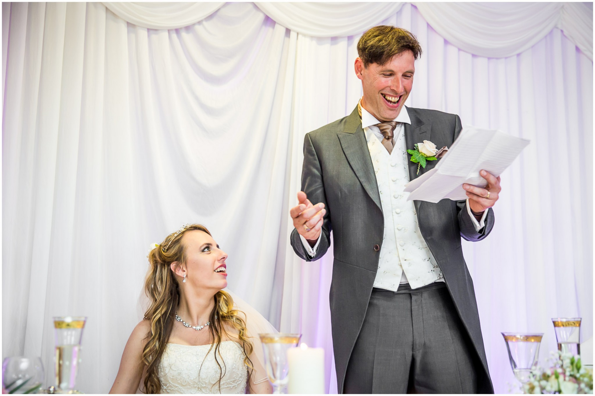 Highfield Park Wedding Photography Father of the Bride's speech