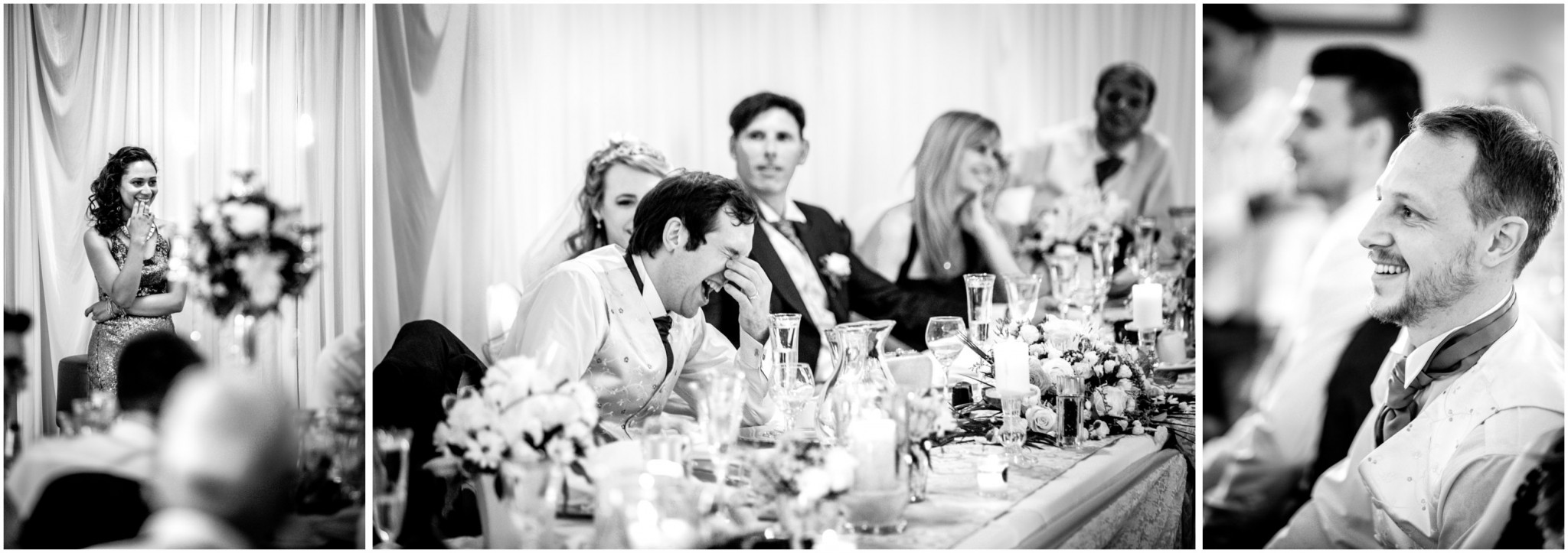 Highfield Park Weddding Guests reaction to the Speeches