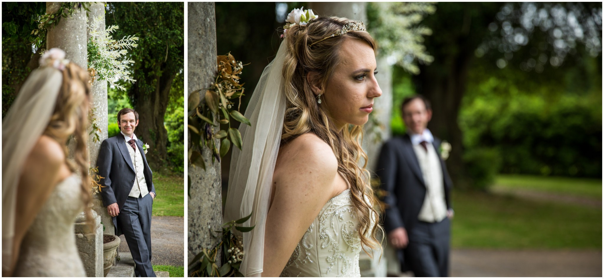 Highfield Park Wedding Photography Bride with Groom in the gardens