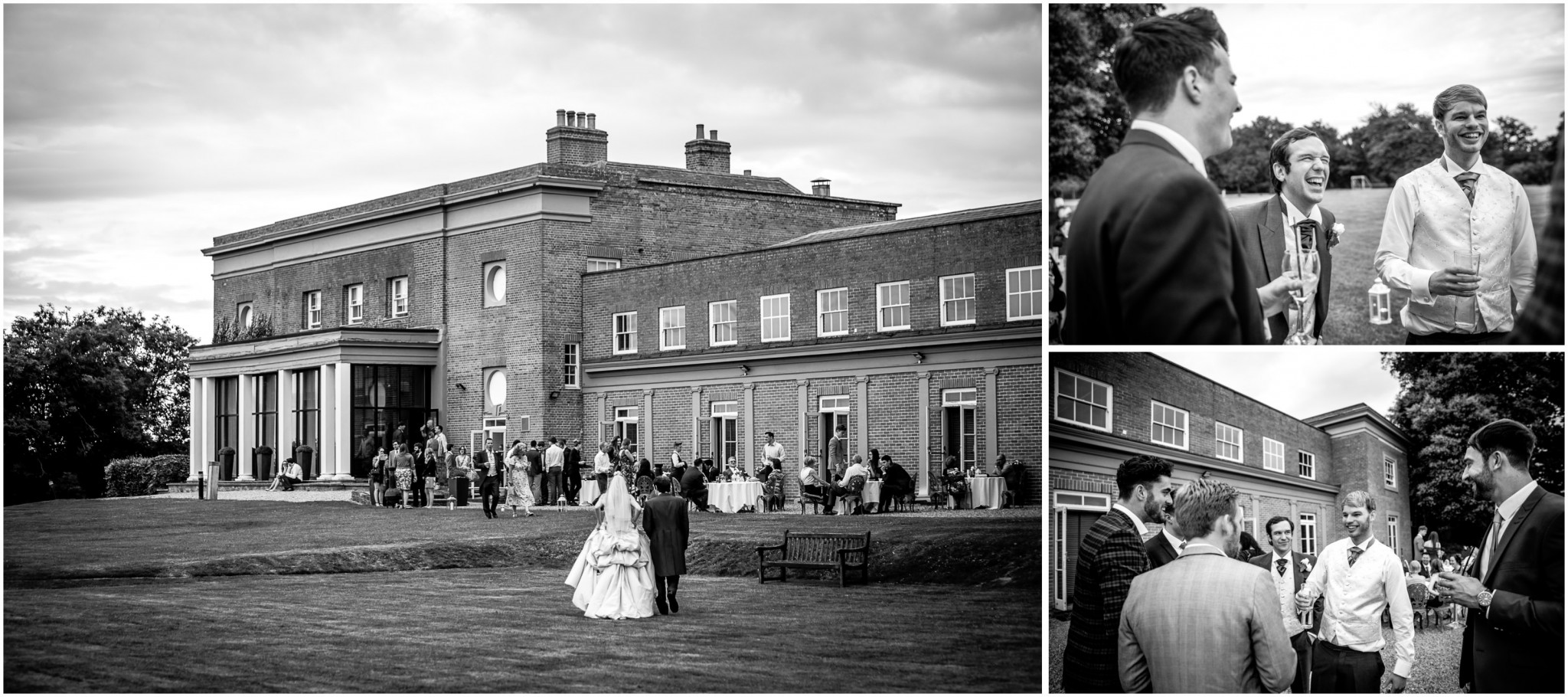 Highfield Park Wedding Photography drinks reception