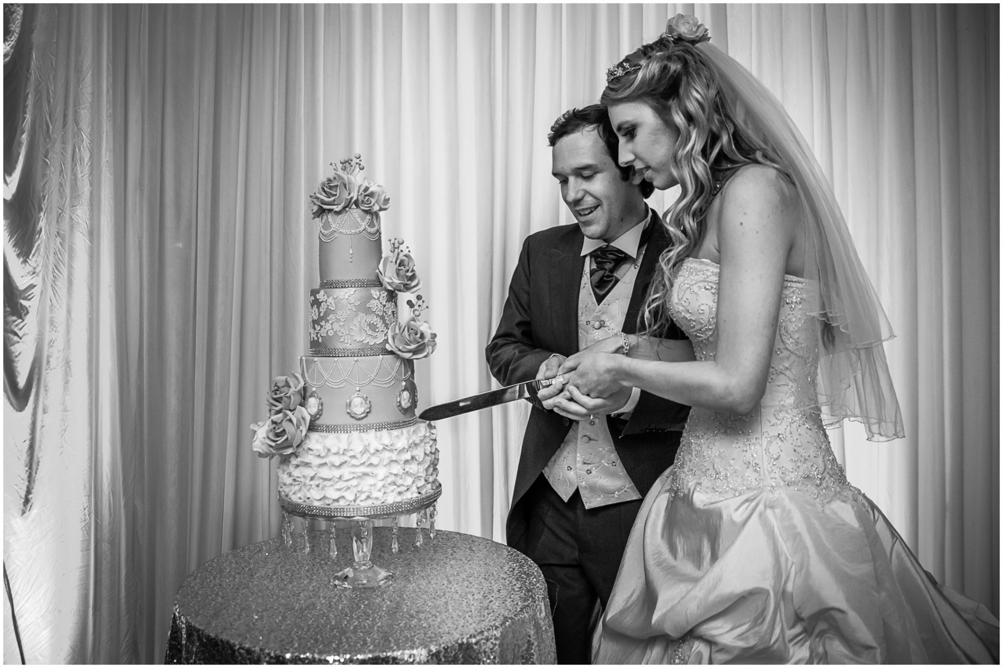Highfield Park Wedding Photography Cutting the Cake