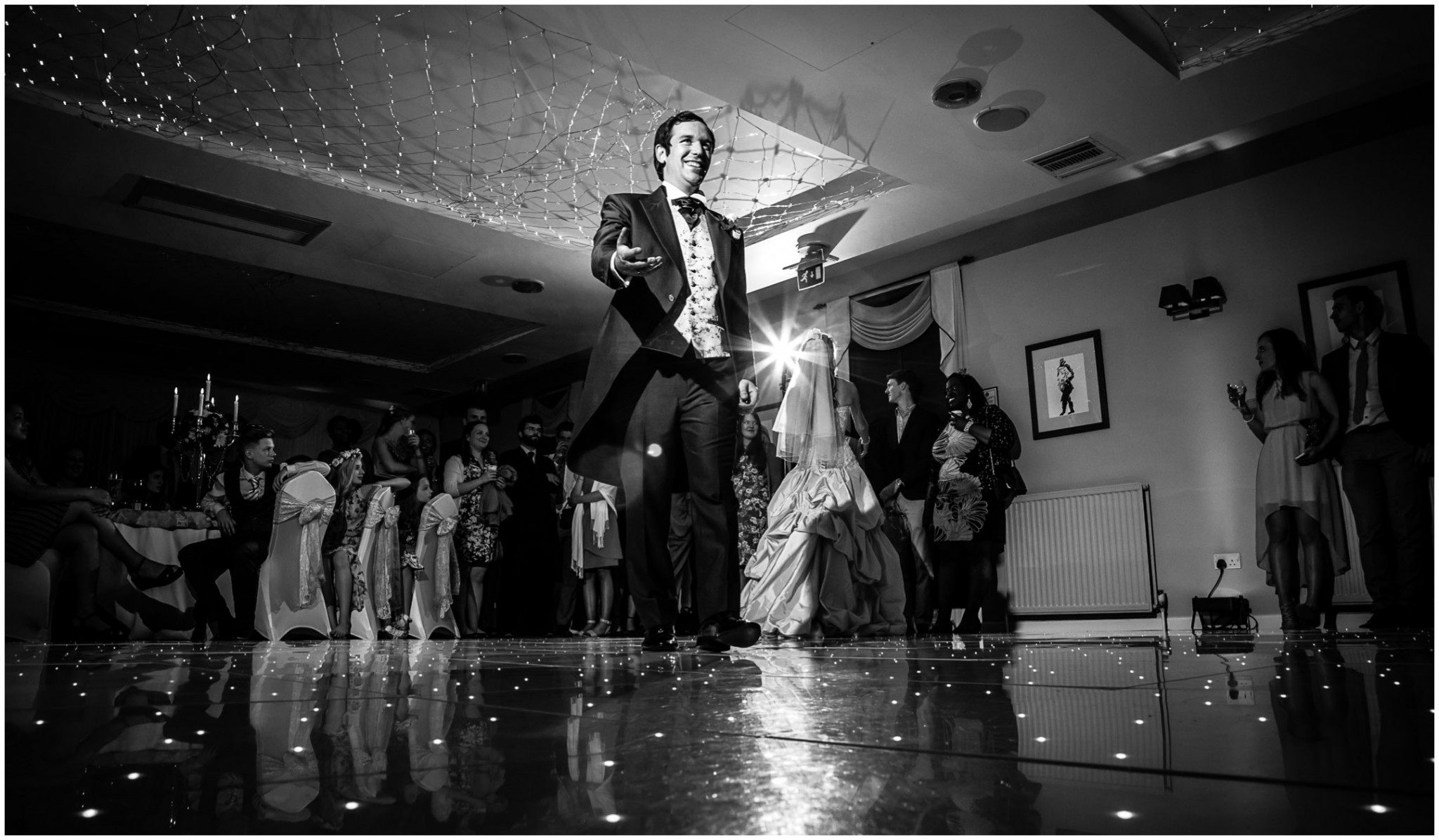 Highfield Park Wedding Photography Groom on the dancefloor
