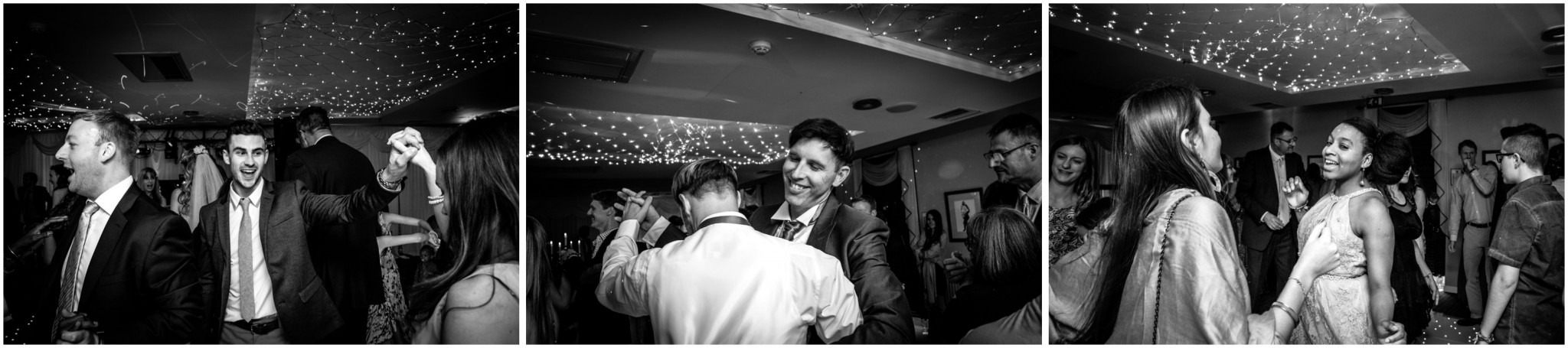 Highfield Park Wedding Photography Guest dancing at evening reception