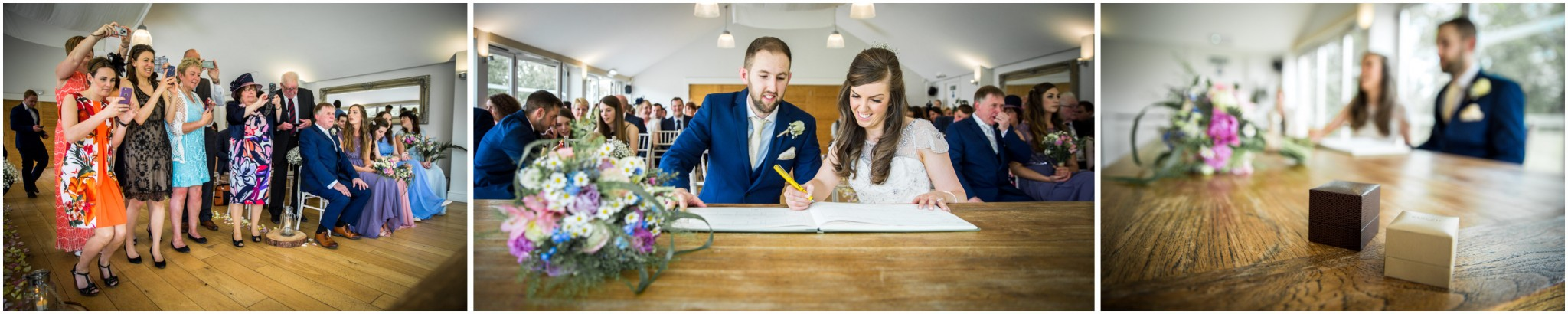 Wasing Park Wedding Photography signing the register 002