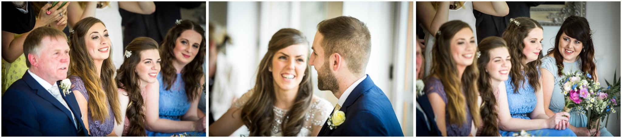 Wasing Park Wedding Photography wedding ceremony reaction