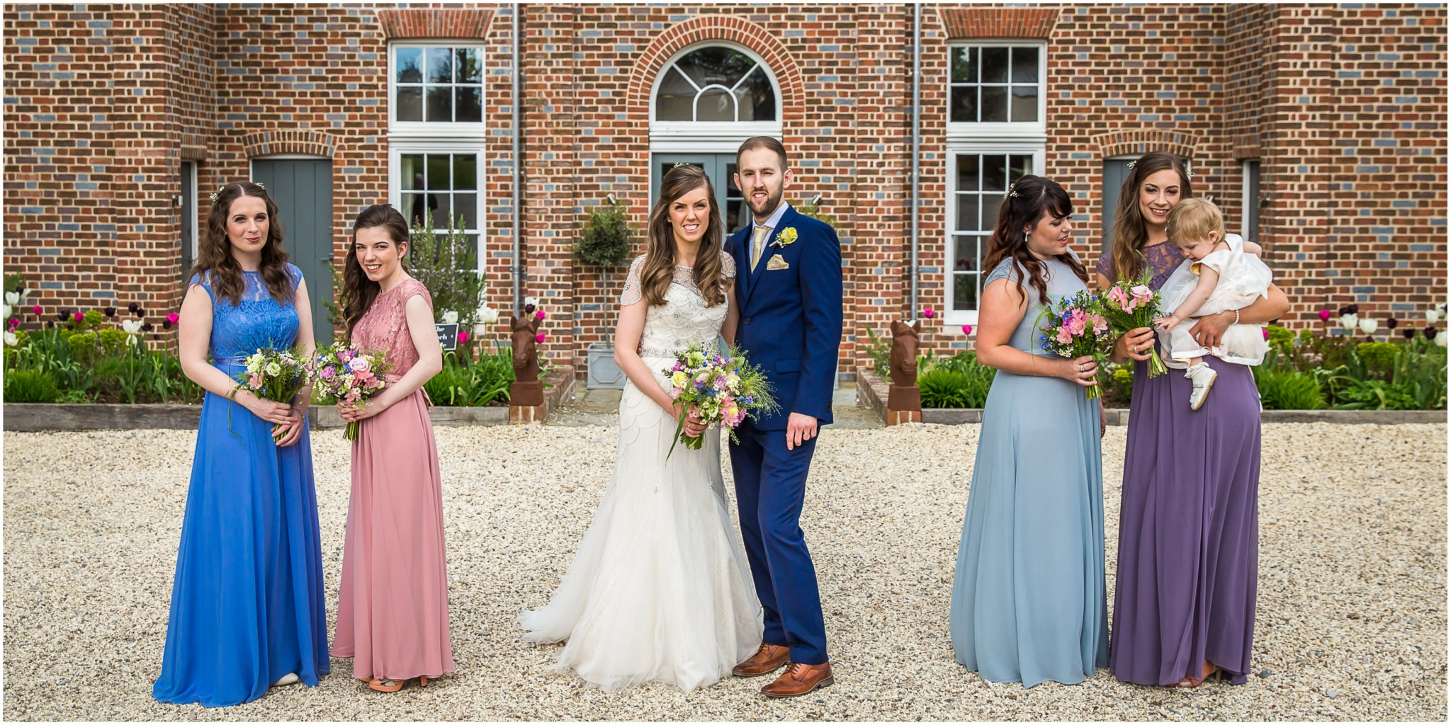 Wasing Park Wedding Photography Bride & Groom with bridesmaids