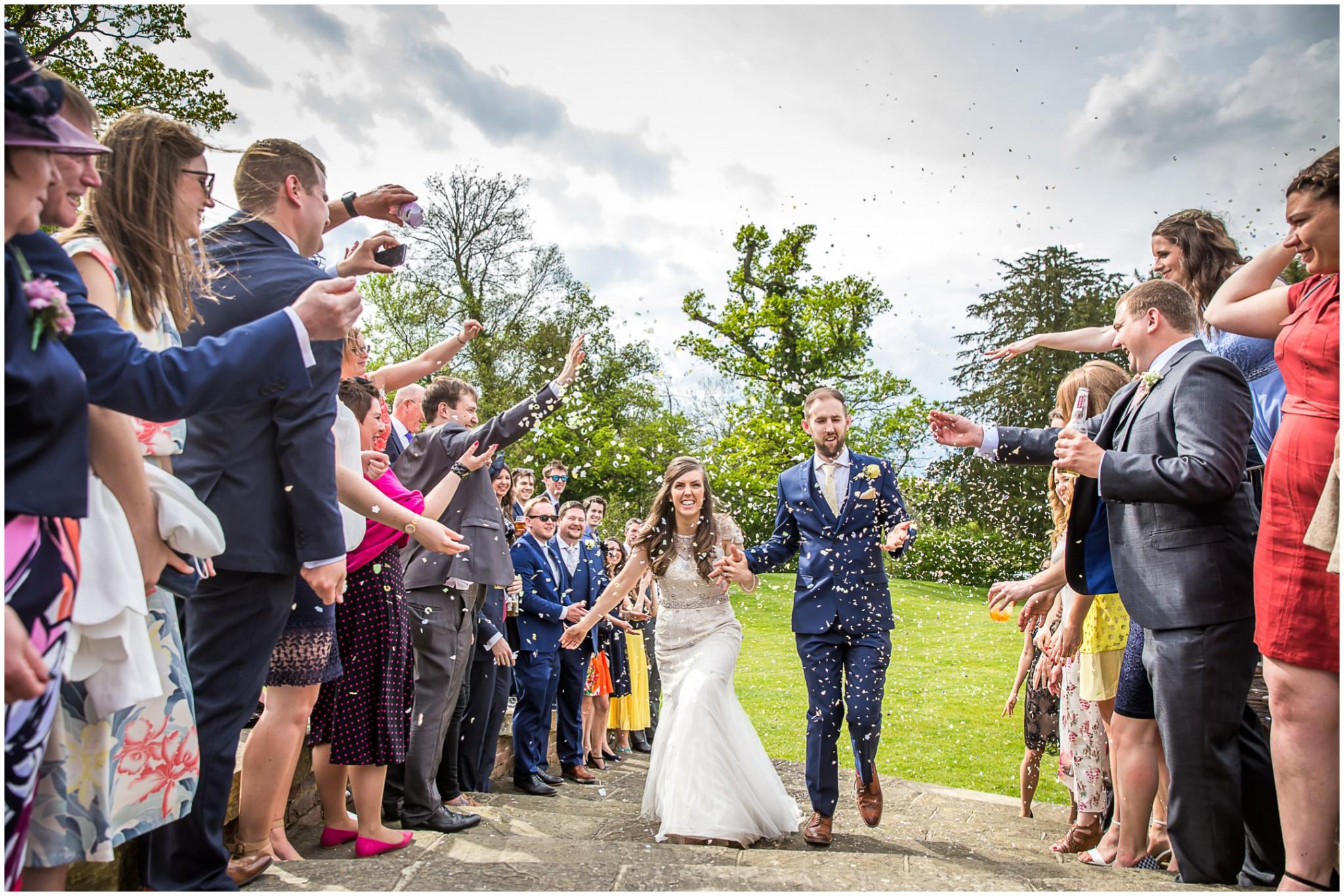Wasing Park Wedding Photography Confetti