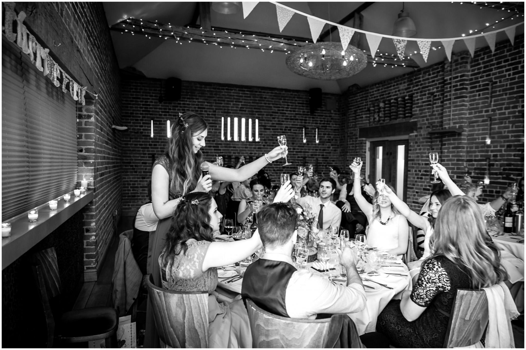 Wasing Park Wedding Photography Bridesmaid's speech