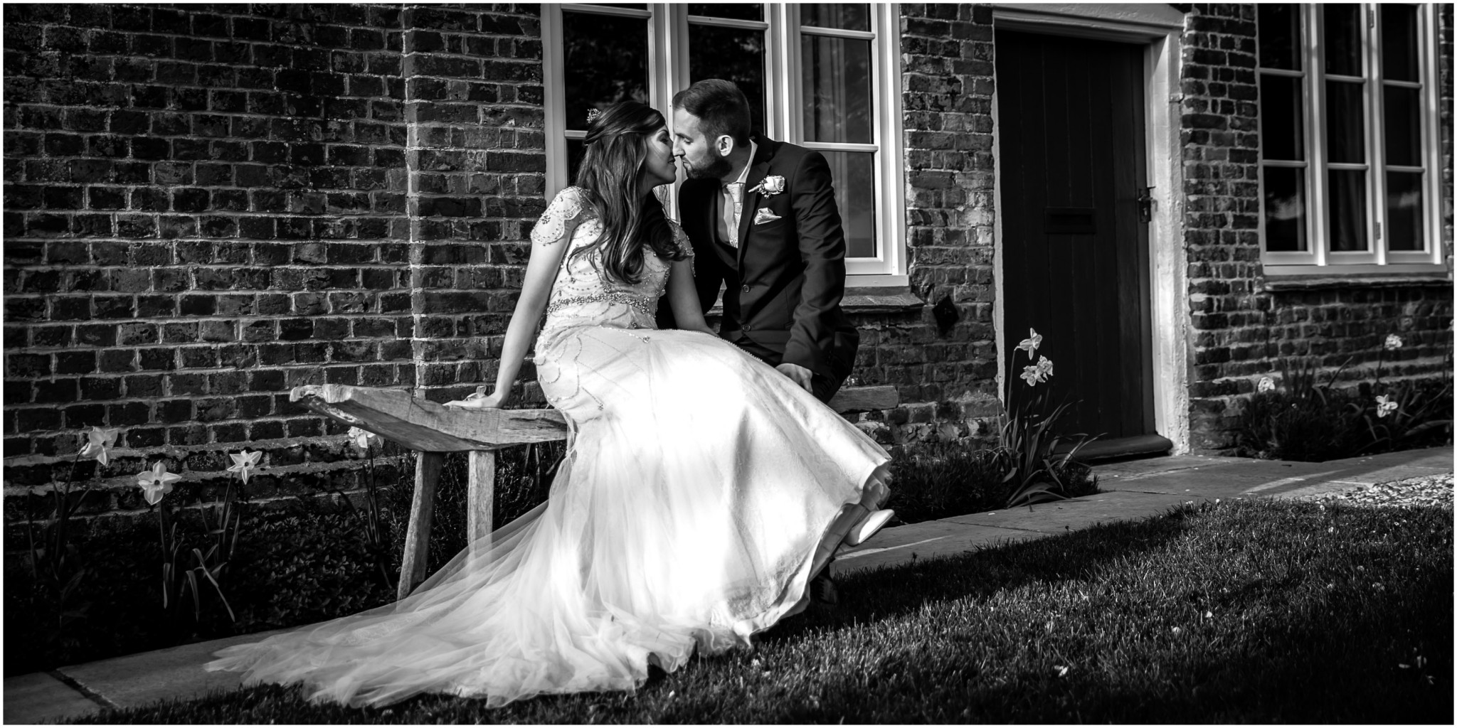 Wasing Park Wedding Photography Bride & Groom kissing