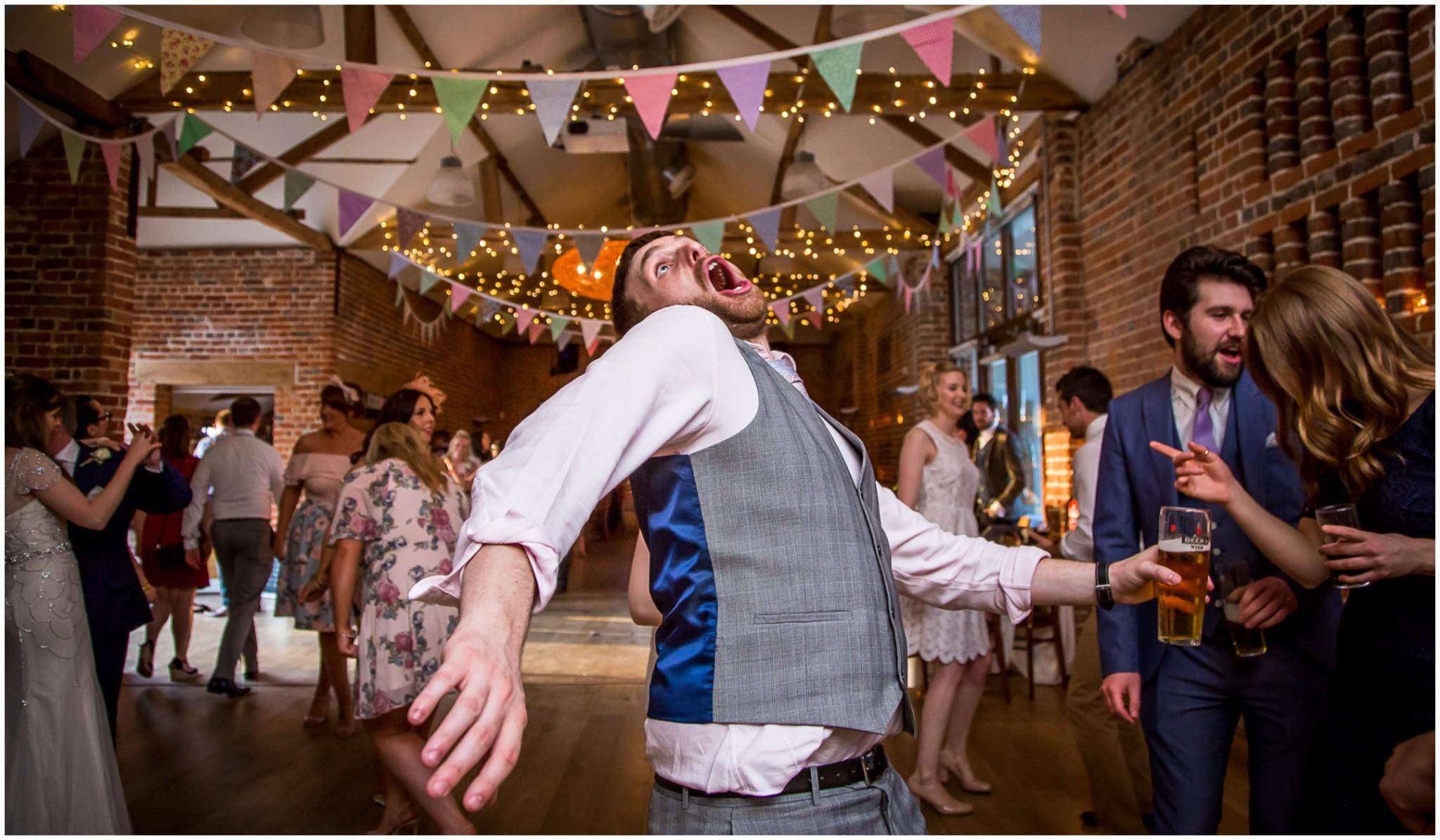 Wasing Park Wedding Photography evening wedding reception guest dancing
