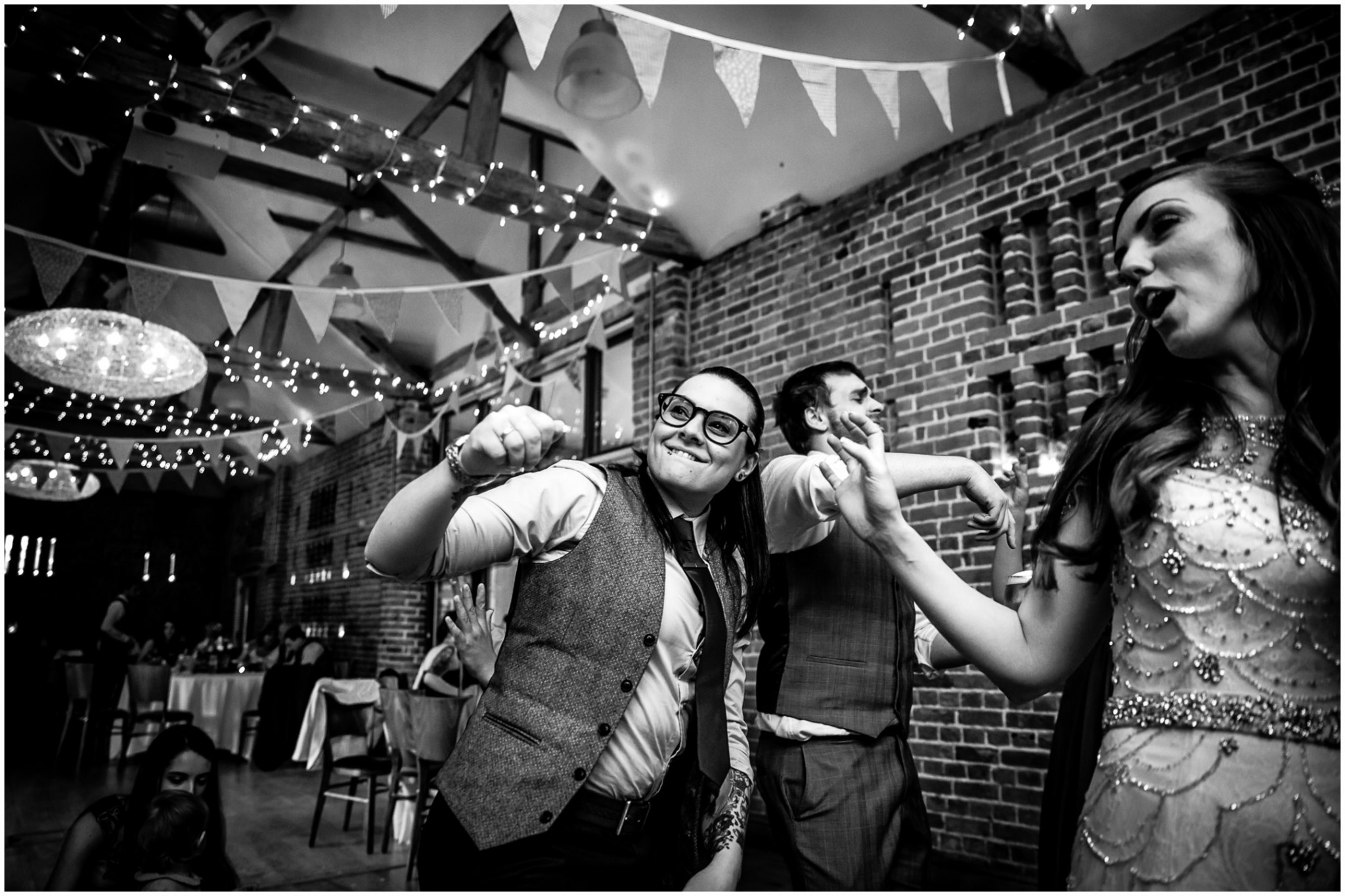 Wasing Park Wedding Photography dancing at evening wedding reception