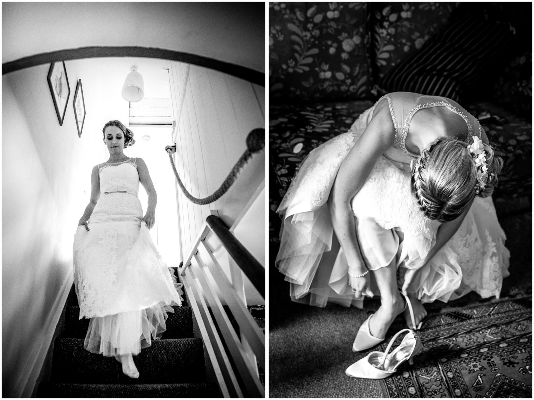 Tournerbury Woods Estate wedding Bride on stairs
