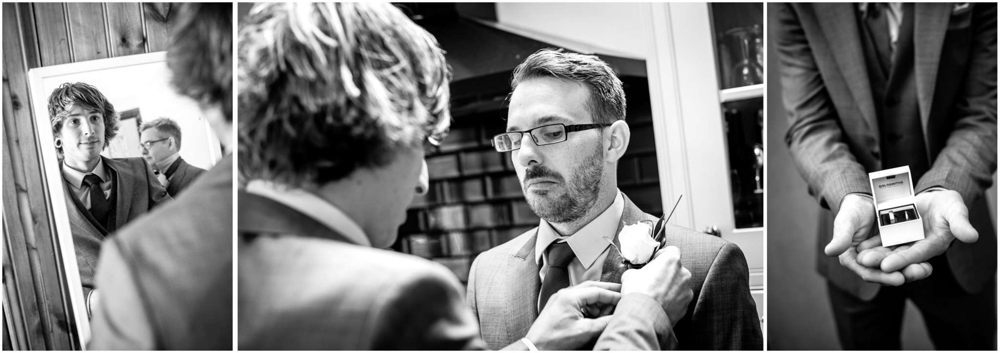 Tournerbury Woods Estate wedding Groom with best man