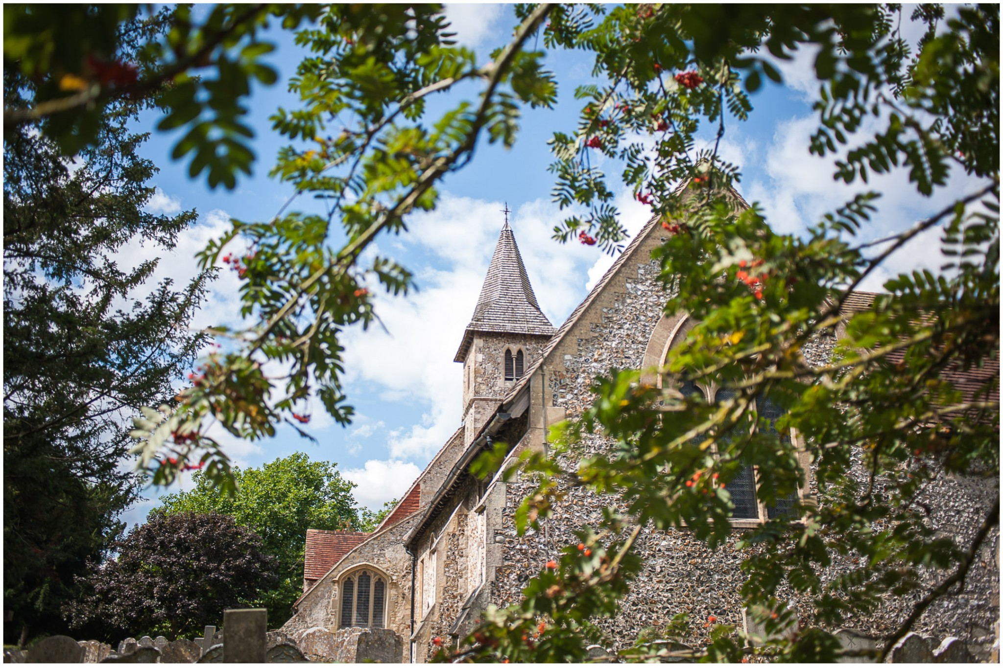 St Thomas a Becket Church Wedding Exterior shot