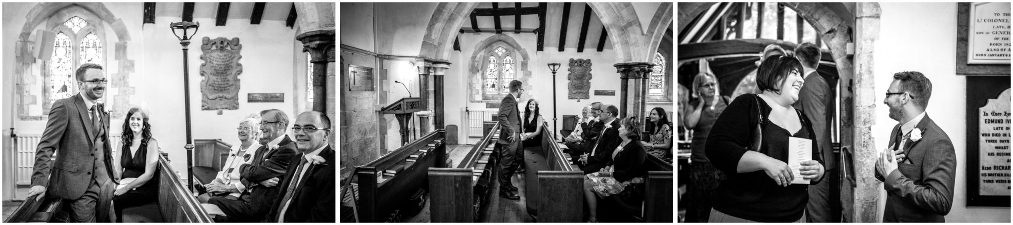 St Thomas a Becket Church Wedding Guests Arriving