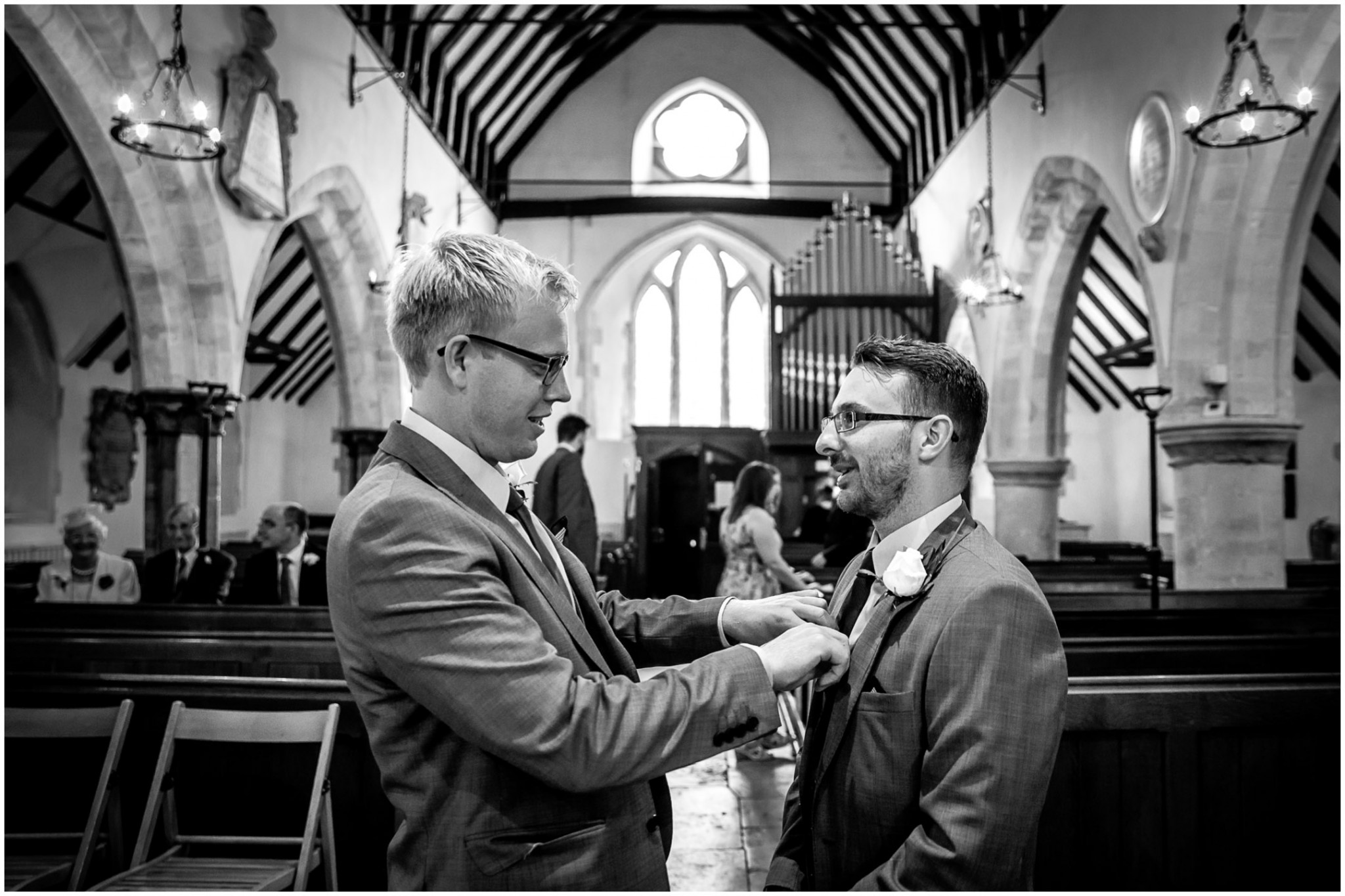 St Thomas a Becket Church Wedding Groom & Best Man